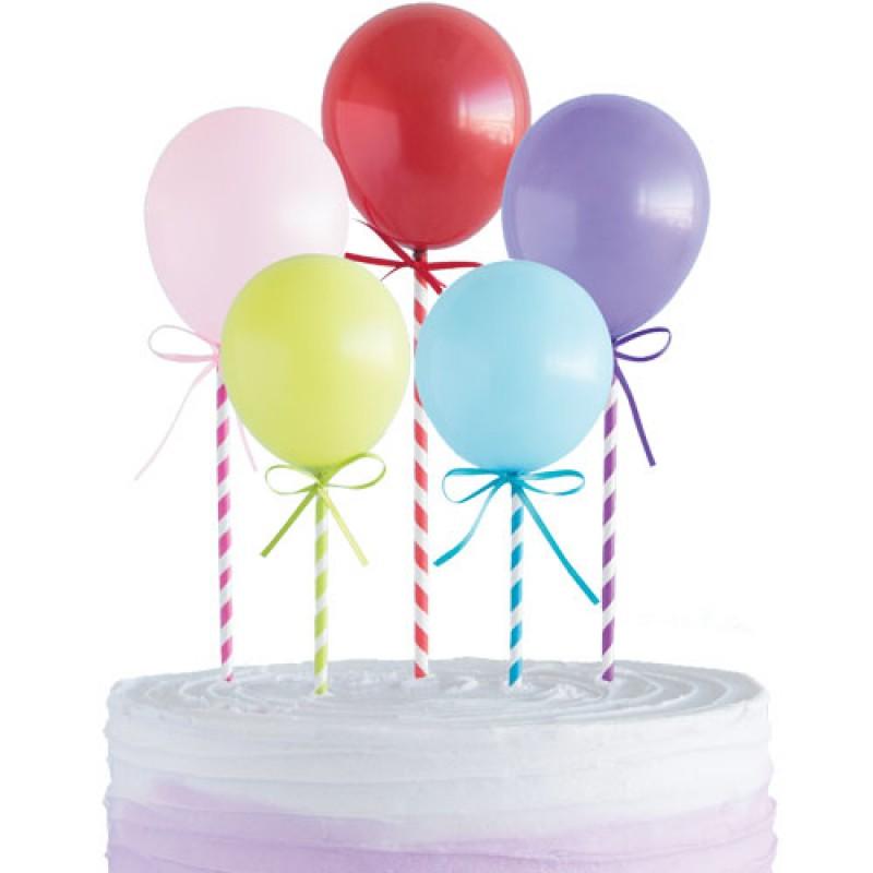5 Mini Balões Topo de Bolo