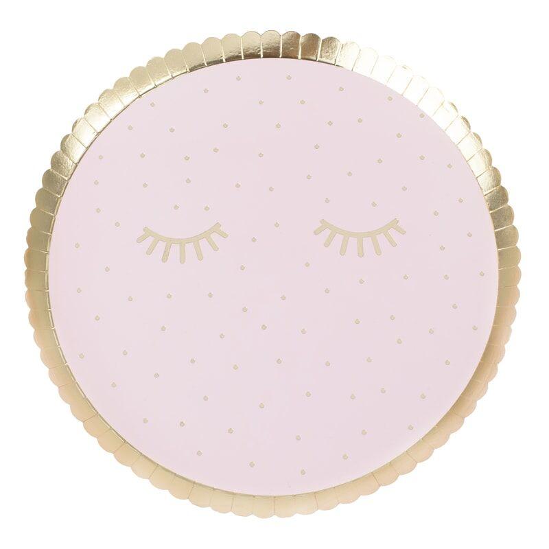 Pratos Pink Pamper 21.50cm Ginger Ray