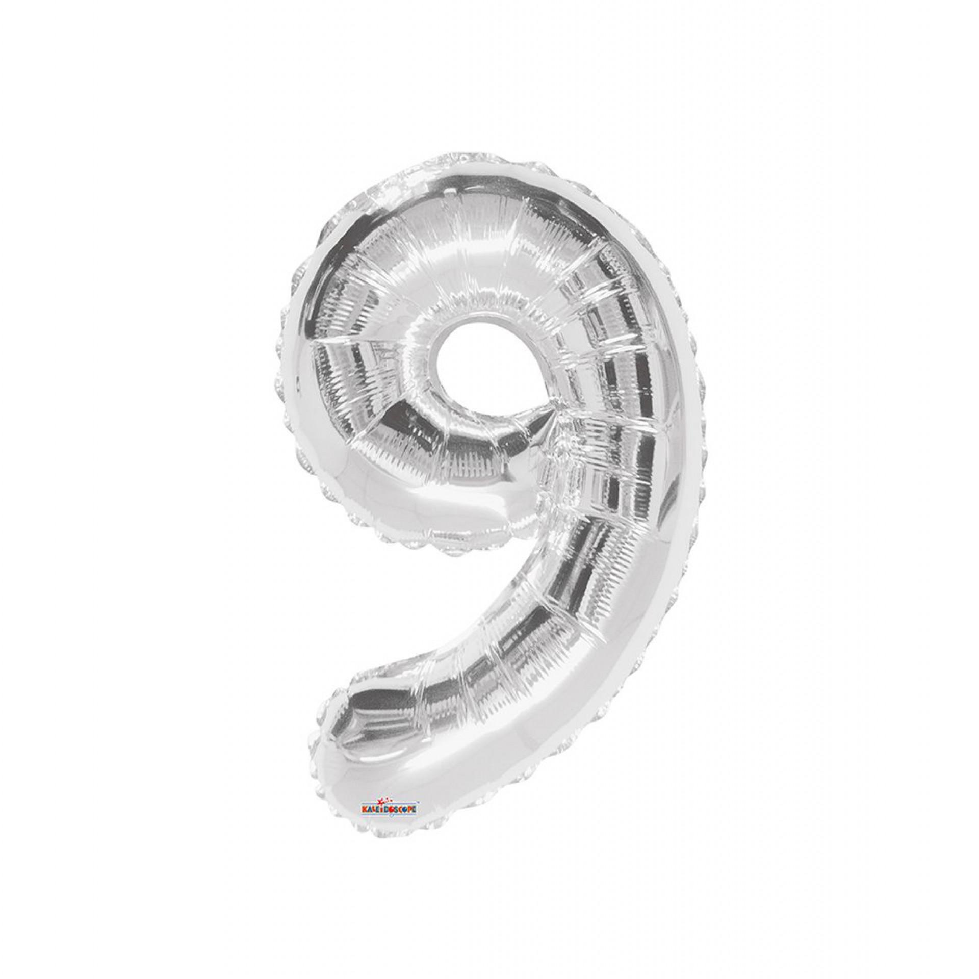 """Balão foil 34"""" Número 9 - Kaleidoscope"""