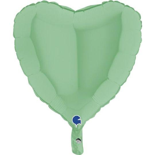 """Balão Coração Mate 18""""-46cm- Grab"""