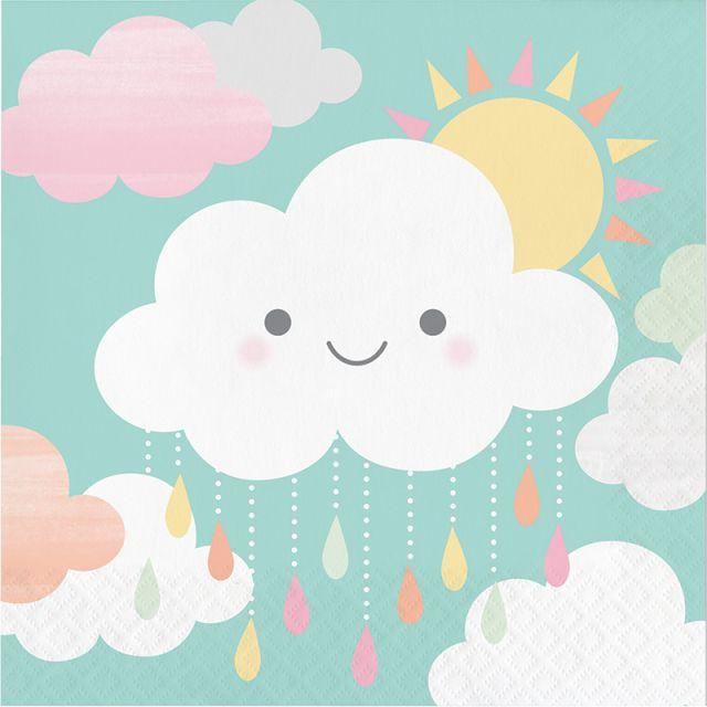 Guardanapos 33cm Smilling Clouds  c/16 - CC