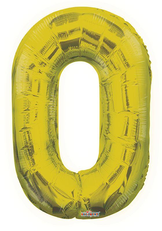 """Balão foil 34"""" Número 0- Kaleidoscope"""