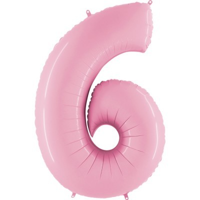 """Balão foil 40"""" número 6 - grabo"""