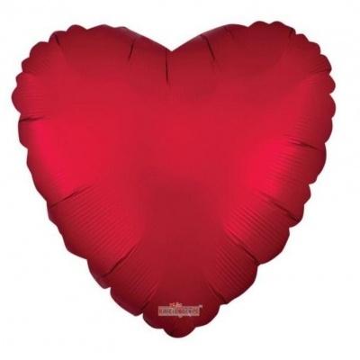 """Balão Vermelho Matte 18"""" com hélio"""