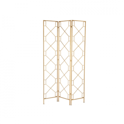 Biombo Geometric Metal Dourado
