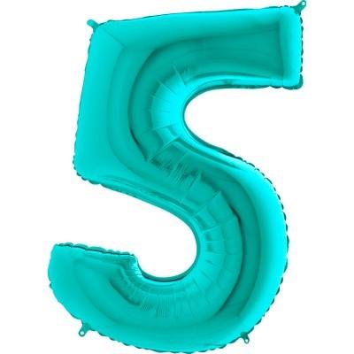 """Balão foil 40"""" número 5 - grabo"""