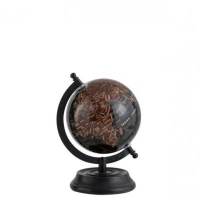 Globe On Foot Madeira Castanho Brilhante e Preto - J-Line