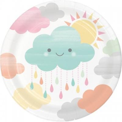 Pratos Smilling Clouds  c/8 - 18cm - CC