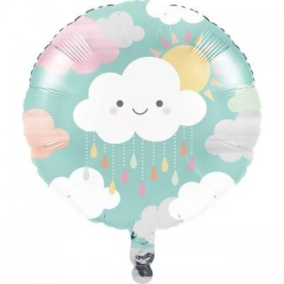 """Balão foil 18"""" Smilling Clouds - CC"""
