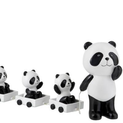 Panda com 3 Pandinhas em Comboio