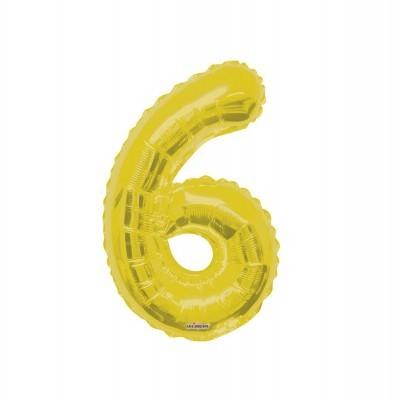"""Balão foil 34"""" Número 6 - Kaleidoscope"""