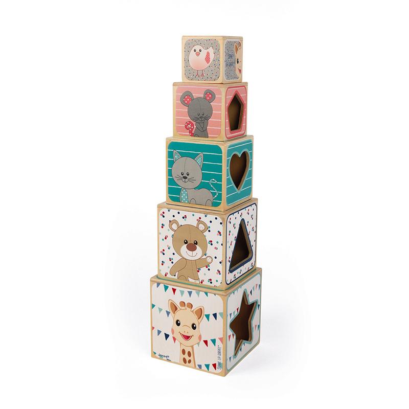 A Girafa Sophie blocos de madeira by Janod