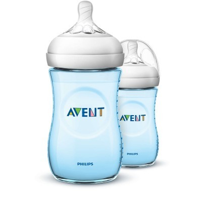 Biberões Philips Avent Natural Azul 260ml - Pack 2x