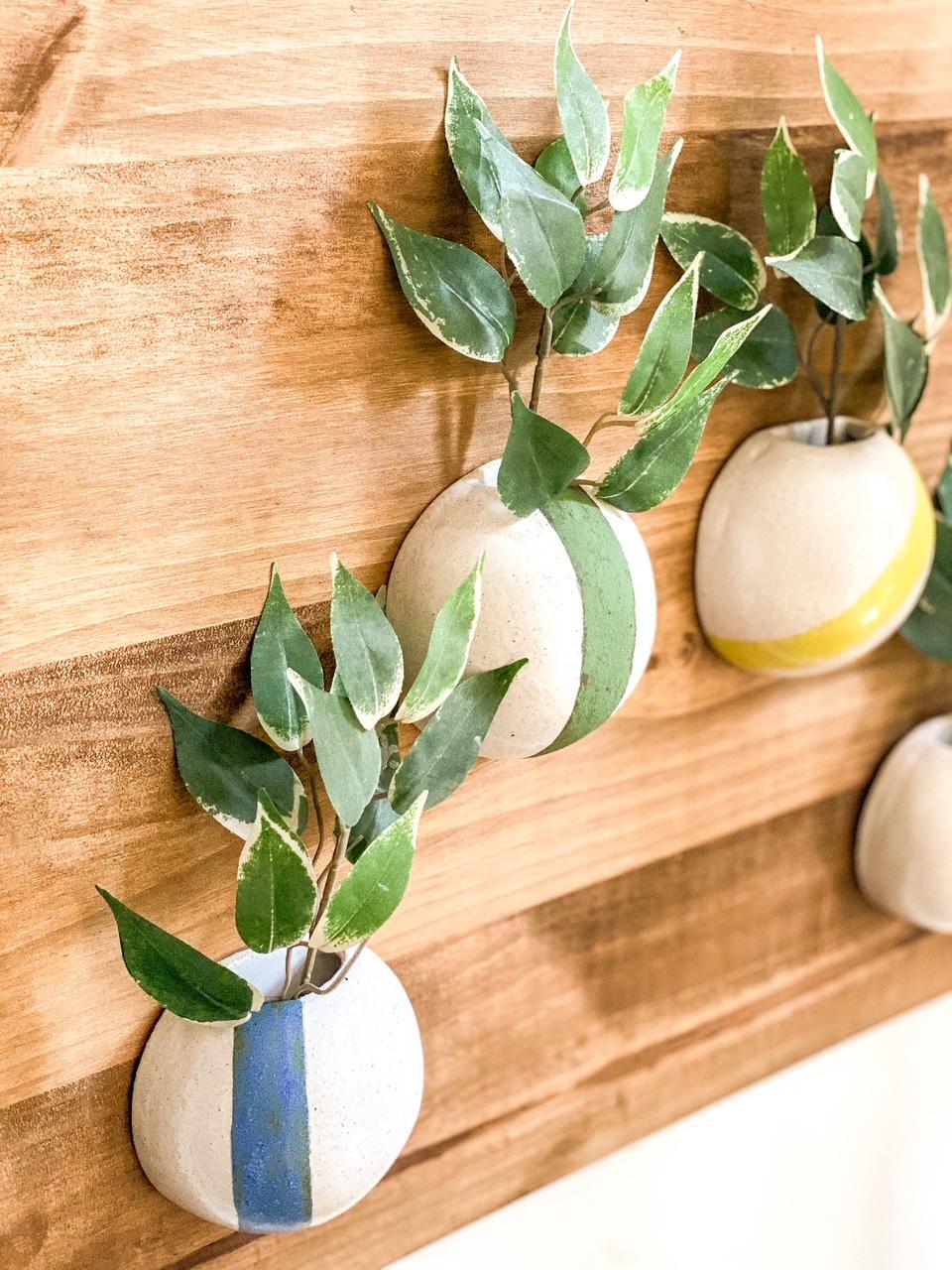Vasos de Parede com Risca Kaji Ceramics