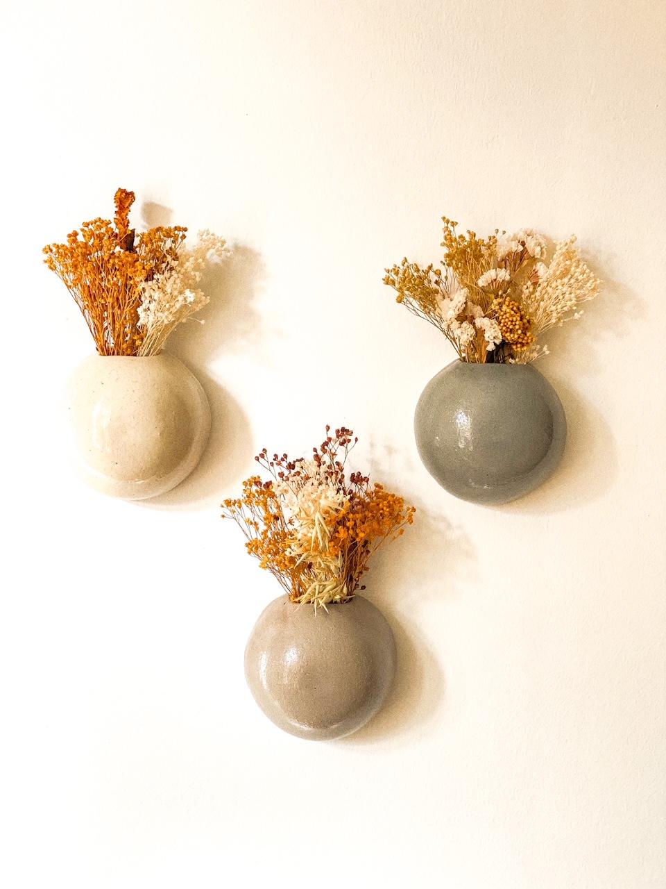 Vasos de Parede Lisos Kaji Ceramics