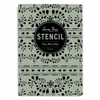 Stencil Faux Bone Inlay Annie Sloan