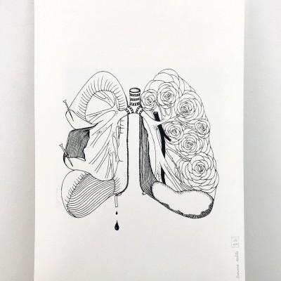 Serigrafia 'São Rosas Senhor' Susana Antão Illustration