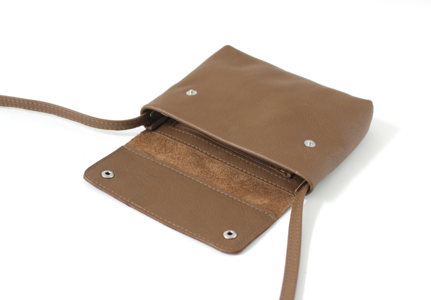 Small Crossbody Purse Brown Ocre