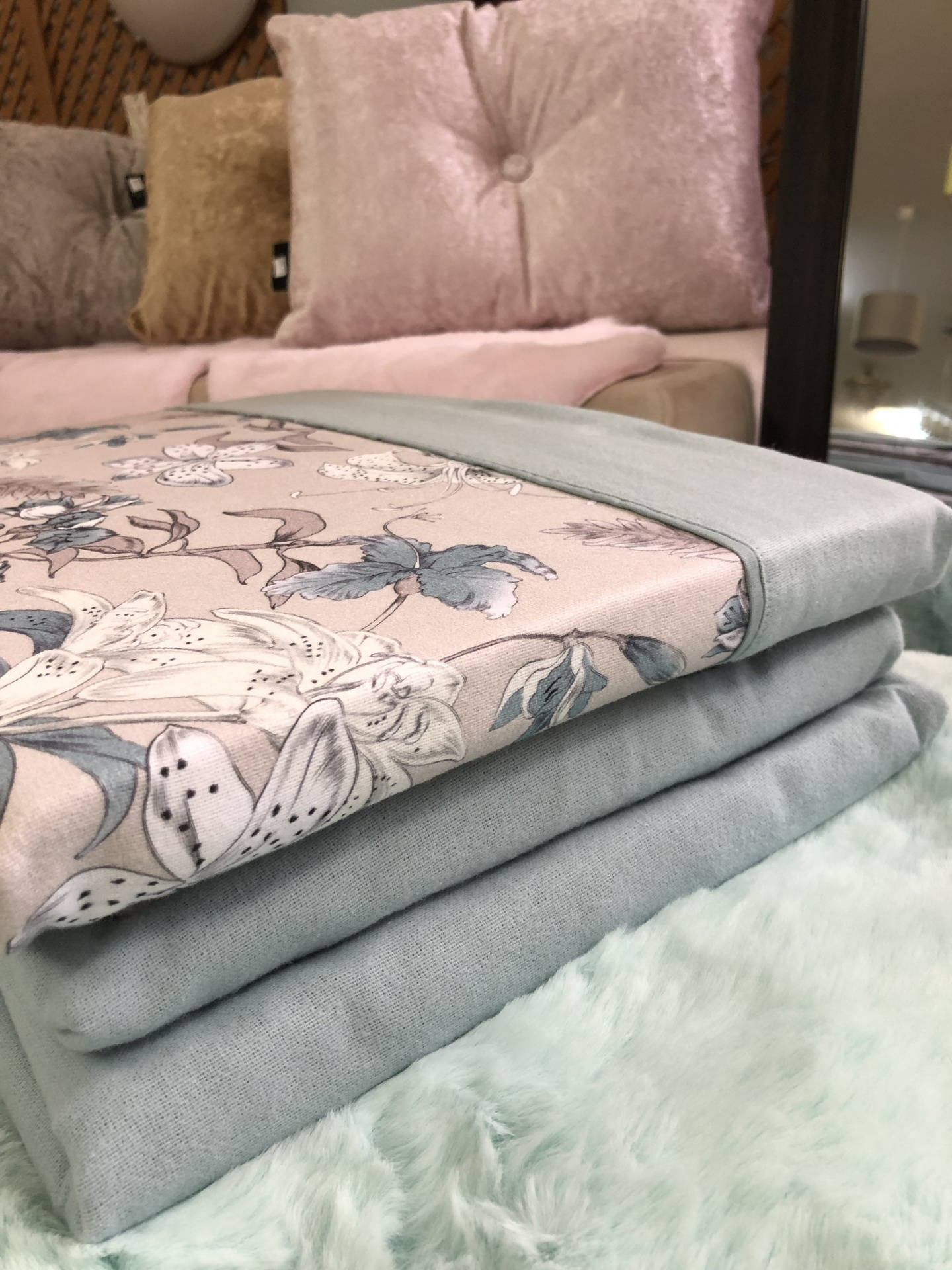 Jogo de cama flanela Ref NOA 04 King Size com lençol ajustavel