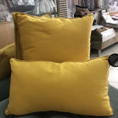 Almofada decorativa amarela