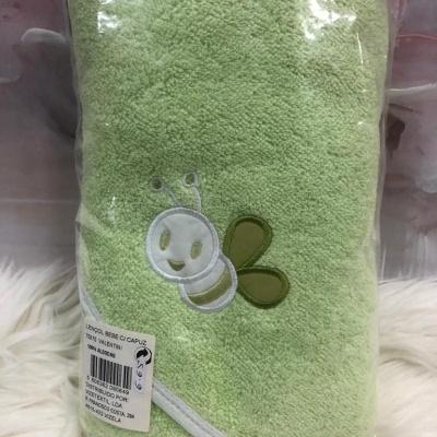 Lençol de banho bebé com capuz