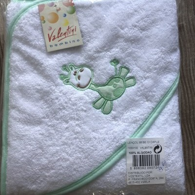 Lençois de banho bebé com capuz 100x100