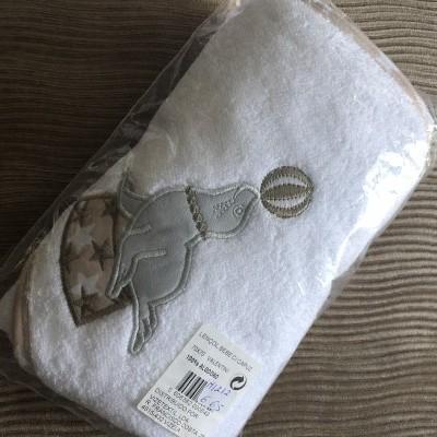 Lençois de banho bebé com capuz 70x70