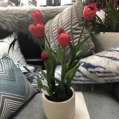 Vaso tulipas artificial