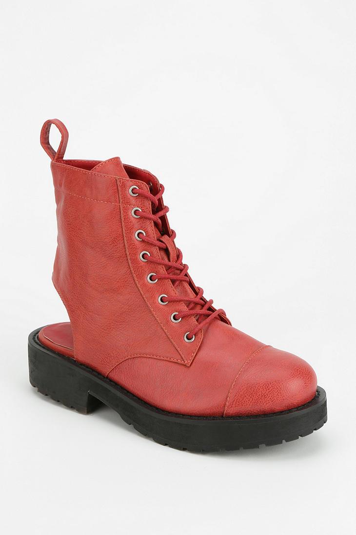 Deena & Ozzy Cutout Platform Ankle Boot