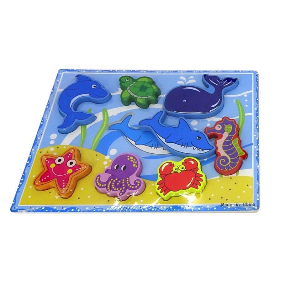 Puzzle Animais Médio Madeira