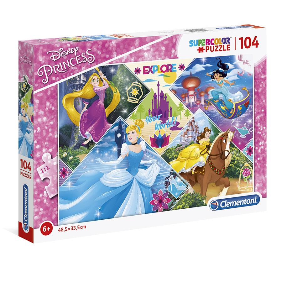 Puzzle Super 104 Pçs Princesas