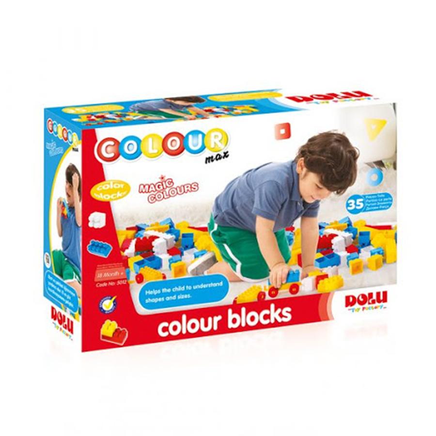 Caixa 35 Blocos Coloridos
