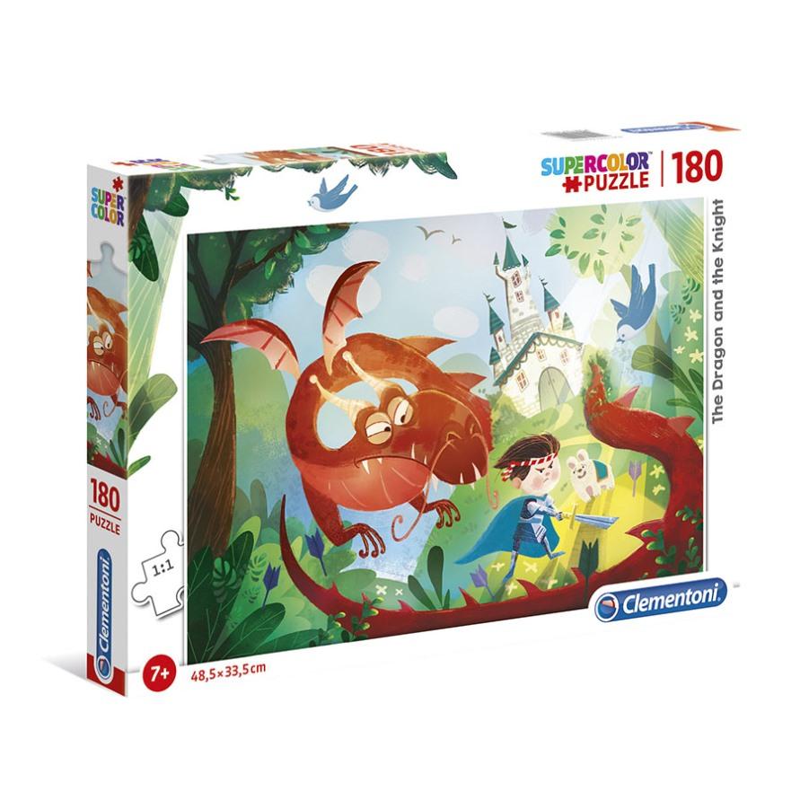 Puzzle Super 180 Pçs O Dragão e o Cavaleiro