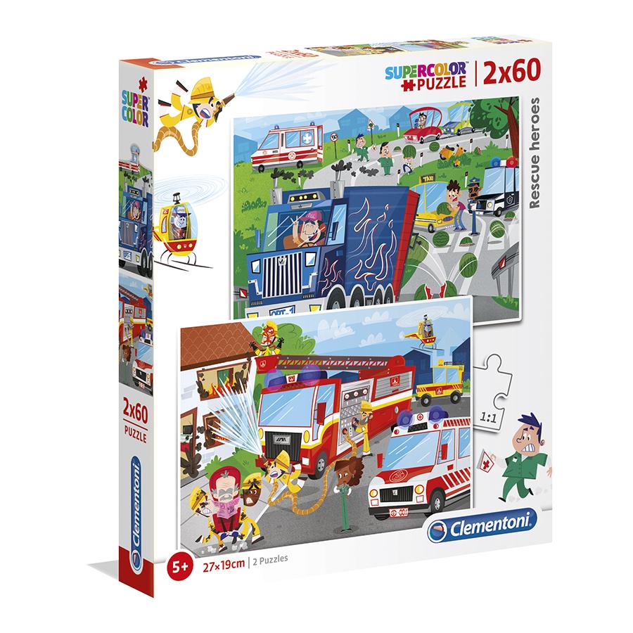 Puzzle Super 2x60 Heróis
