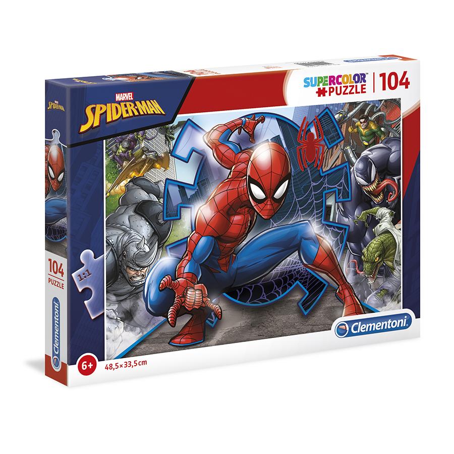 Puzzle Super 104 Pçs Spiderman