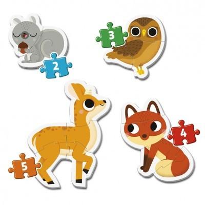 Meu 1º puzzle animais da floresta
