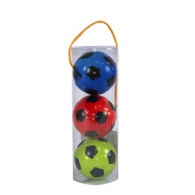 Tubo 3 Bolas 6cm Anti-Stress Futebol