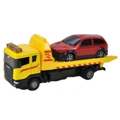 TM Reboque Scania com Carro 1:48