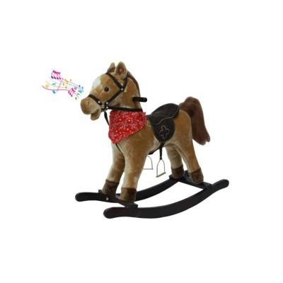 Cavalo Baloiço Castanho com Som