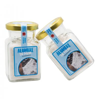 Desodorizante Natural de Pó de Alúmen