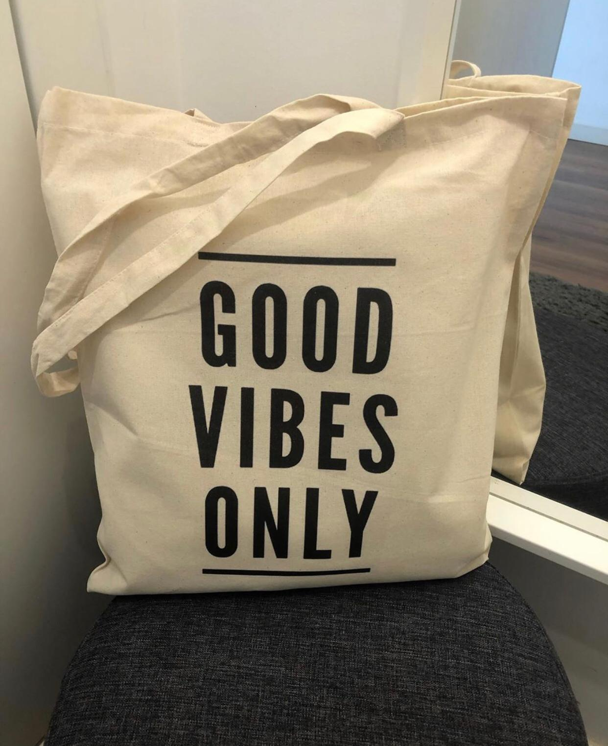 """Tote Bag """"Good Vibes Only"""""""