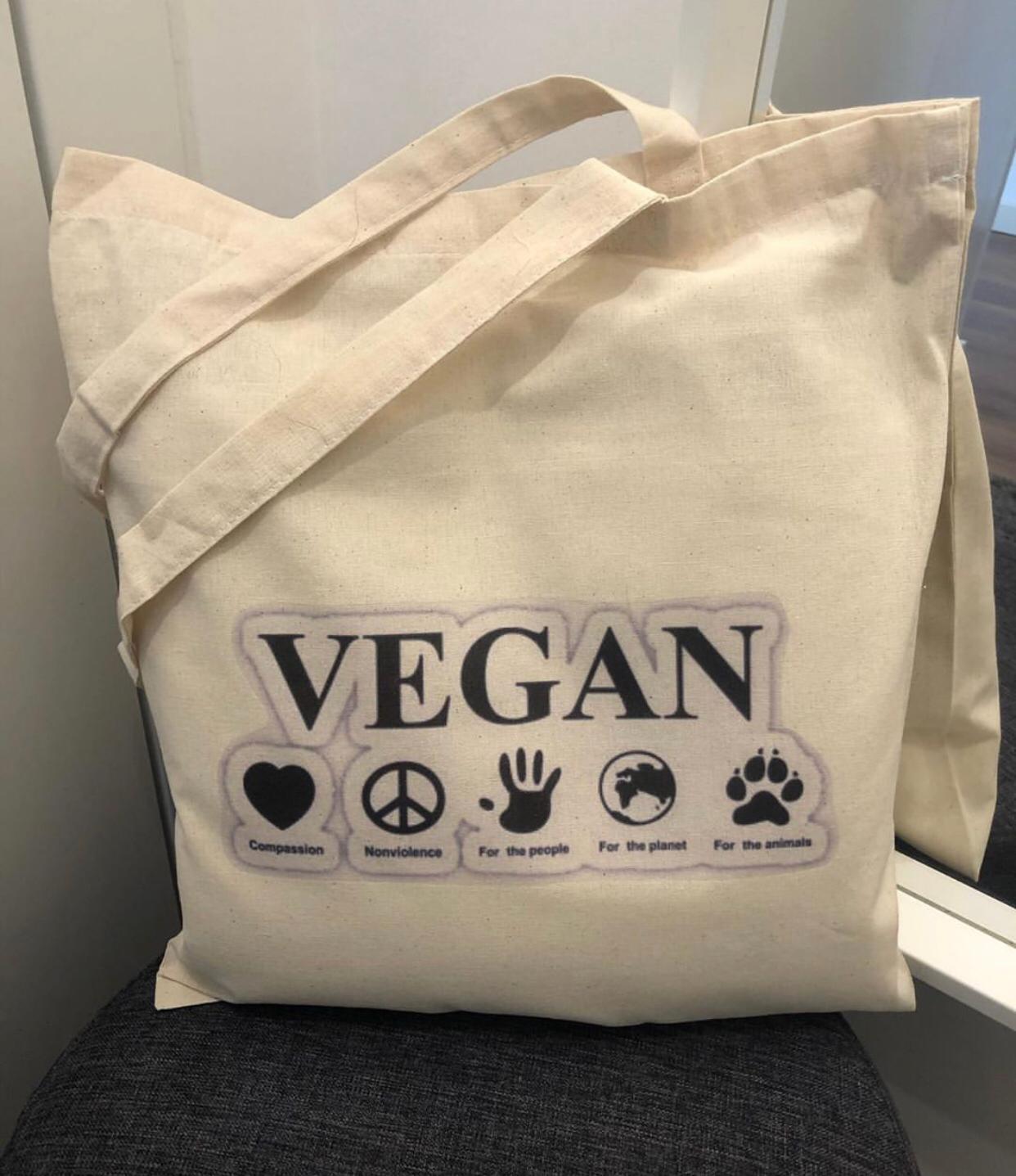 """Tote Bag """"Vegan"""""""