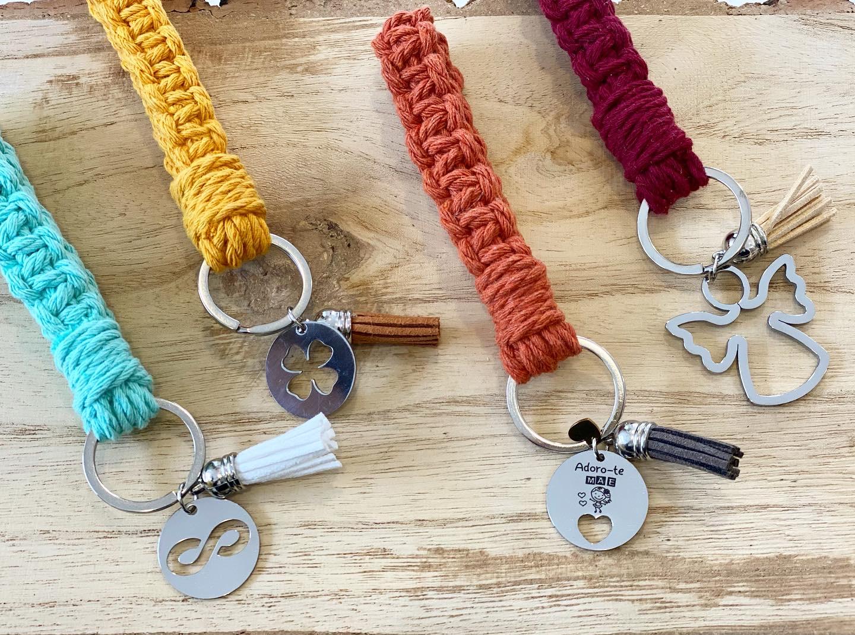 Porta-chaves Macramé