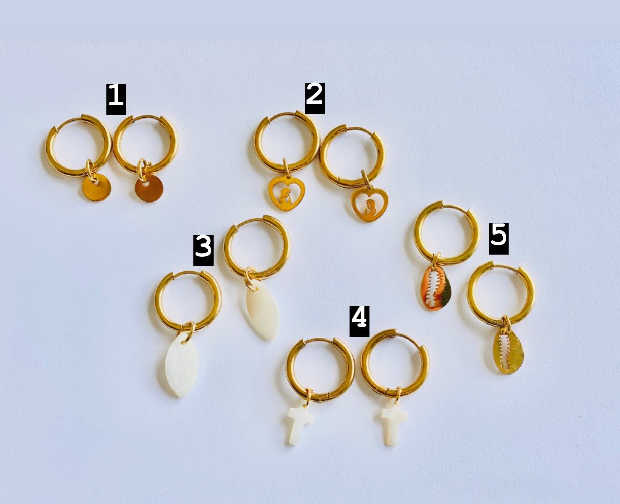 Argolas Douradas c/pendente