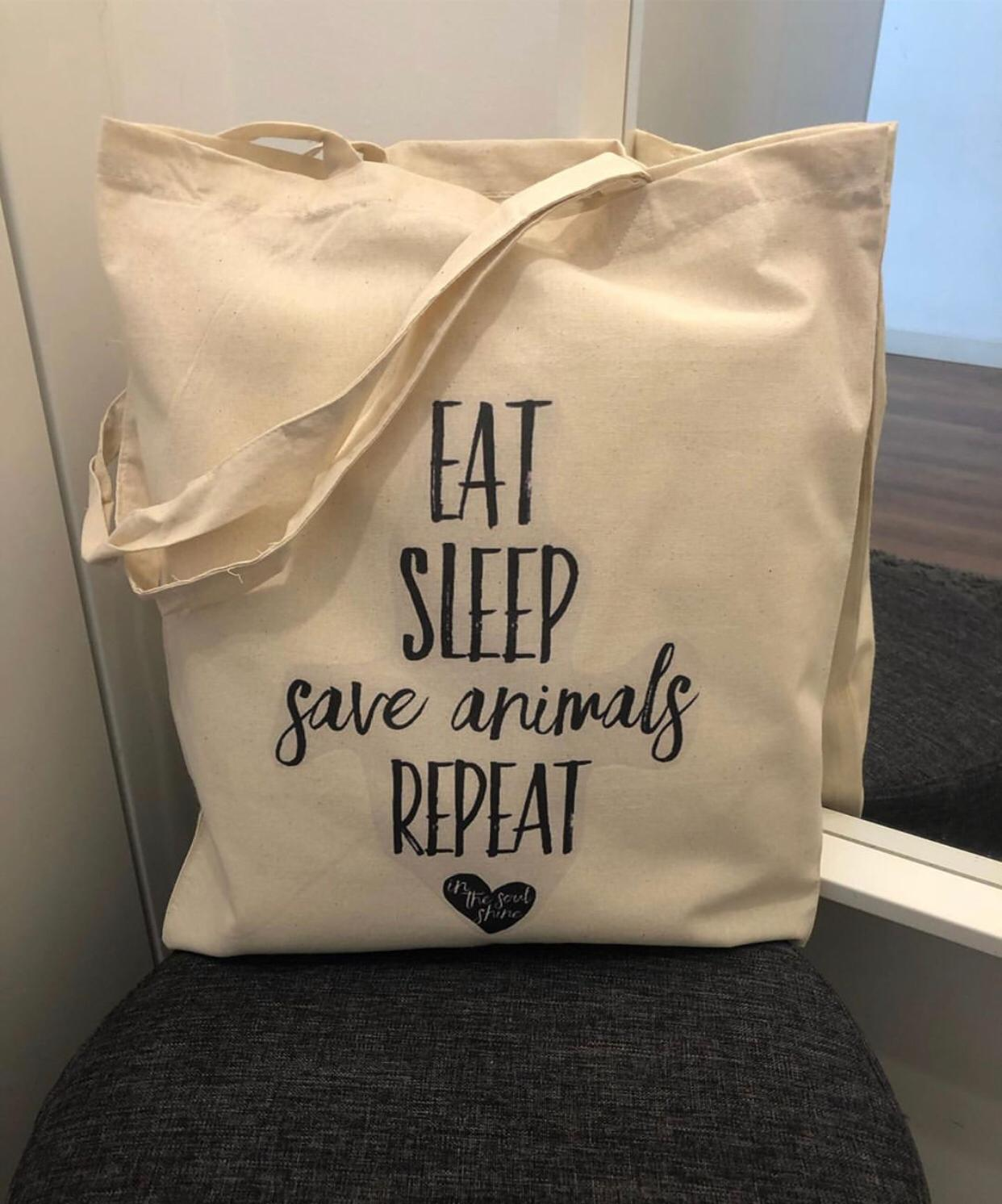 "Tote Bag "" Save Animals"""