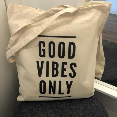 "Tote Bag ""Good Vibes Only"""