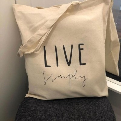 "Tote Bag ""Live Simply"""