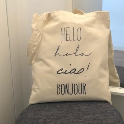 """Tote Bag """"Hello"""""""