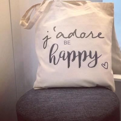 "Tote Bag ""J'adore be happy"""