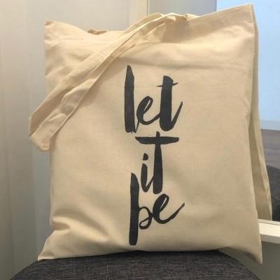 """Tote Bag """"Let it be"""""""